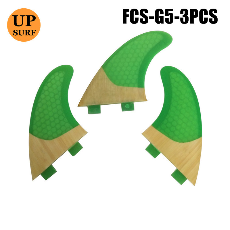 Surf Surfboard FCS Fins G5 Top Quality Bamboo Base FCS Fins Free Shipping pranchas de in Surfing from Sports Entertainment