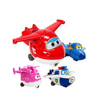 mini Superwings 1pcs/set ABS Toys mini Super Wings Airplane Robots with Supporting hangar Kids Gifts Toys 5245