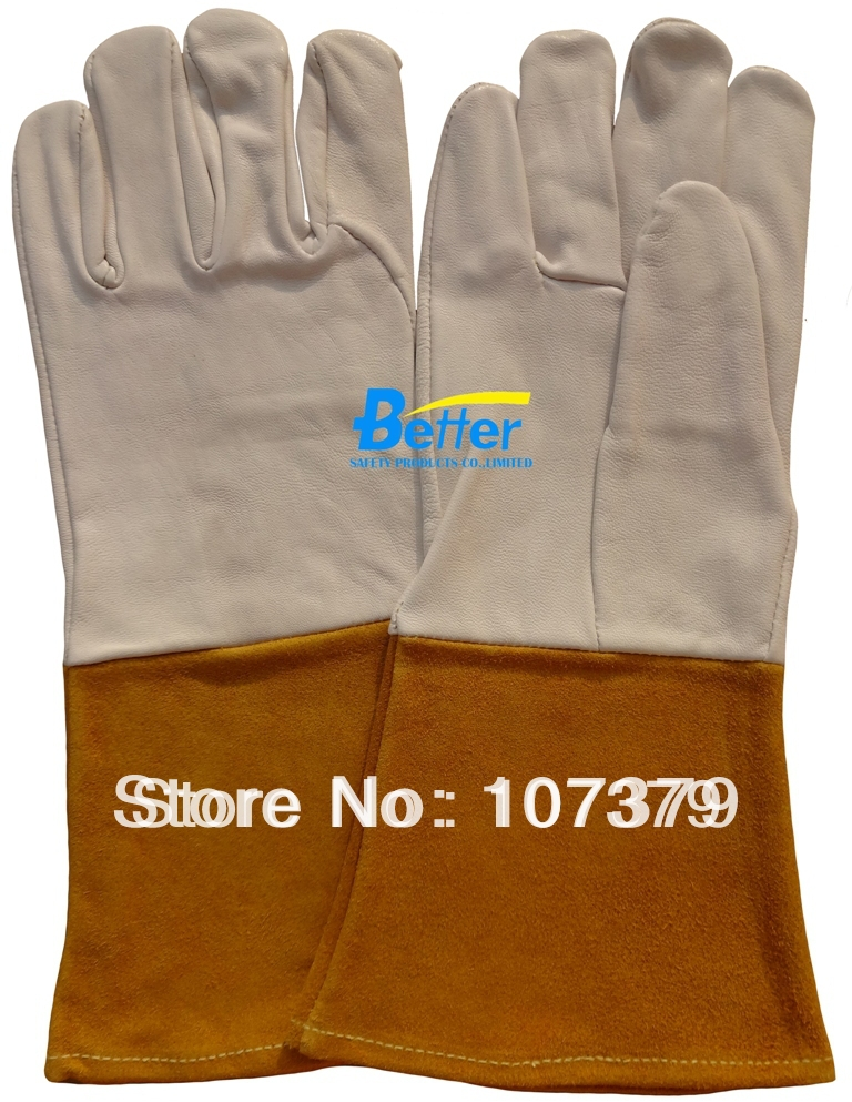 Welding Glove Deluxe Leather Welder Working Glove Comfoflex Grain Goatskin TIG MIG Safety Glove Leather Work Glove leather safety glove deluxe tig mig leather welding glove comfoflex leather driver work glove