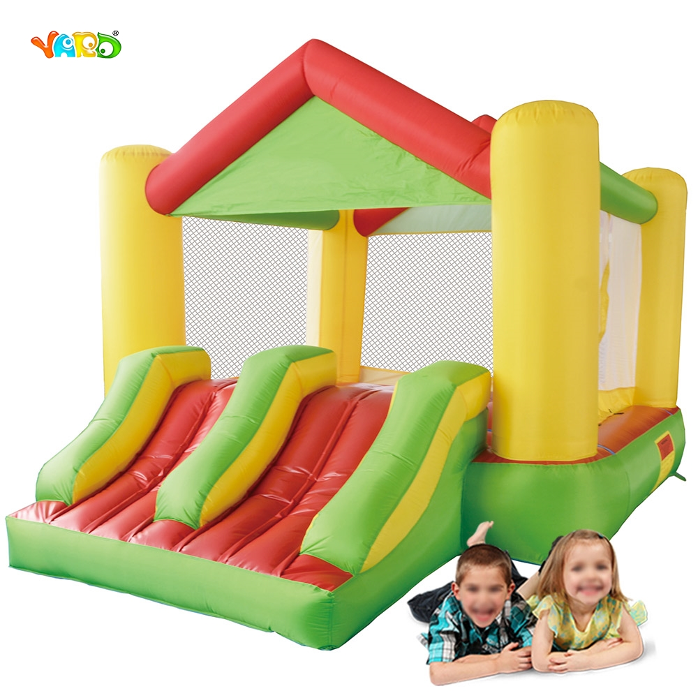 цена на YARD Free Shipping To Hot Sale Area Giant Air Toy Inflatable Bouncer Dual Slide Jumping Castle Funny Bouncy Jumper For Kids
