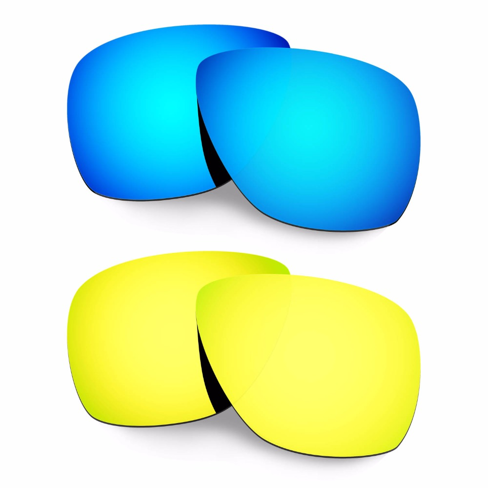Eyewear Accessories Hkuco For Breadbox Sunglasses Polarized Replacement Polarized Lenses Blue/gold 2 Pairs To Ensure A Like-New Appearance Indefinably