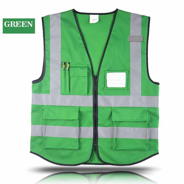 Multiple Pockets Building Construction Vest Safety Cycling Fishing Reflective Clothing Sanitation In From
