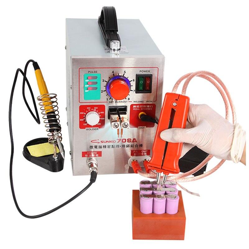 Dual Display Battery Spot welder LED light Spot Welding Machine for 18650 Battery Pack Welding Precision