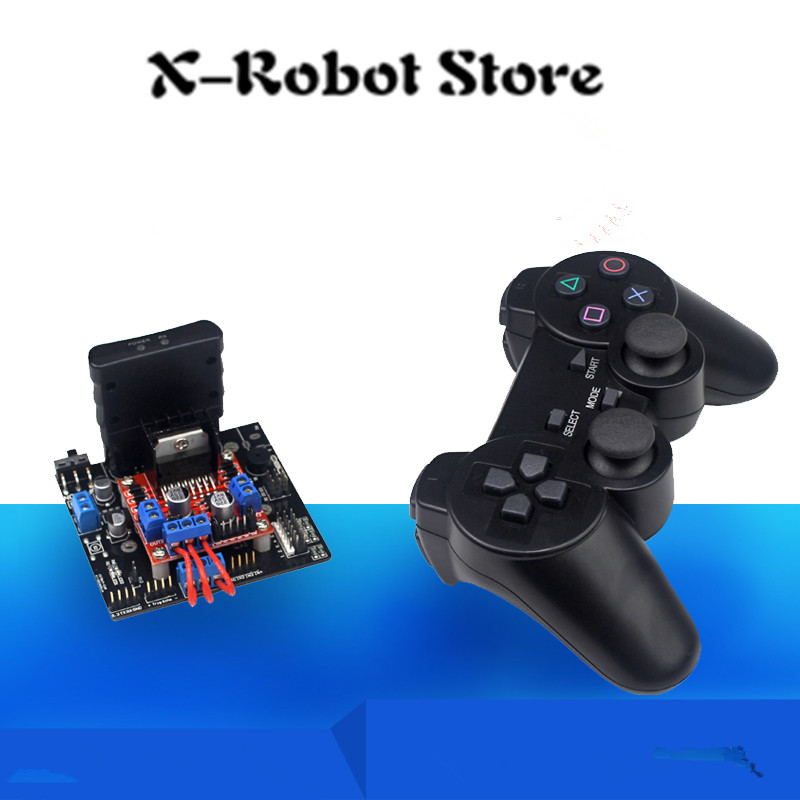 PS2 handle remote control car Open-Source ServoTank control system control board Crawler Robot+ Motor drive module + Android APP thb6128 stepper motor drive control module 2a current 128 subdivision drive board 42 57