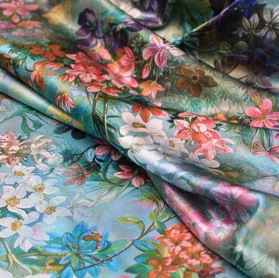 Hedvábné digitální textilie elastické hedvábné saténové tkaniny