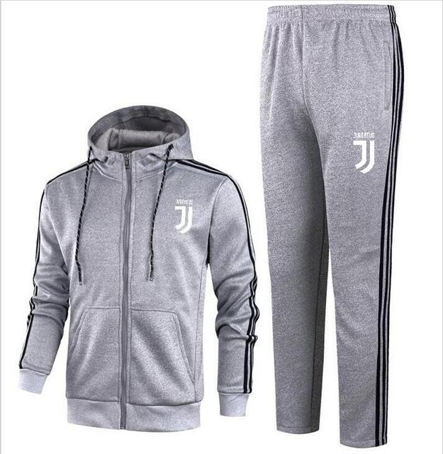 outlet store dfcbc b073f US $55.0 |2018 Cotton lovers sportswear Juventus Hoodie spring new youth  striped casual hooded 2018 cardigan jacket -in Men's Sets from Men's  Clothing ...