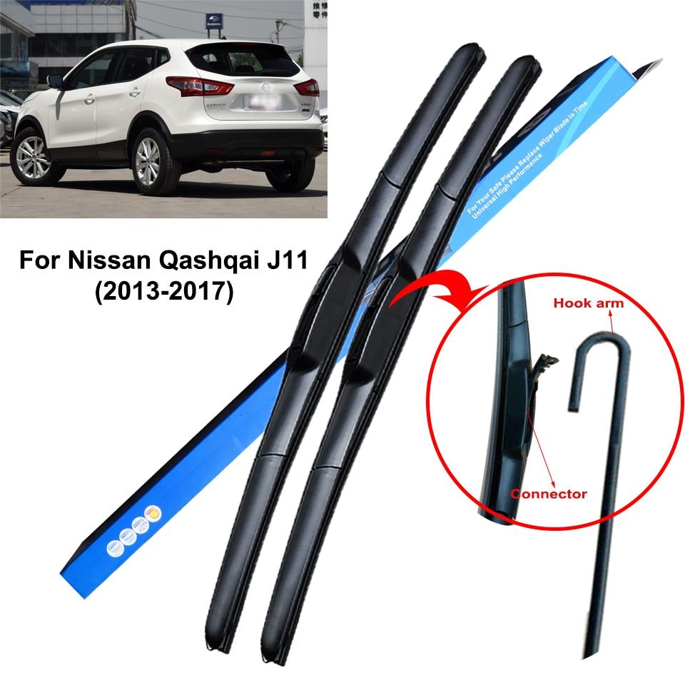 2 I j10 Heckwischer essuie-glaces arrière Essuie-glace feuille pour Nissan Qashqai