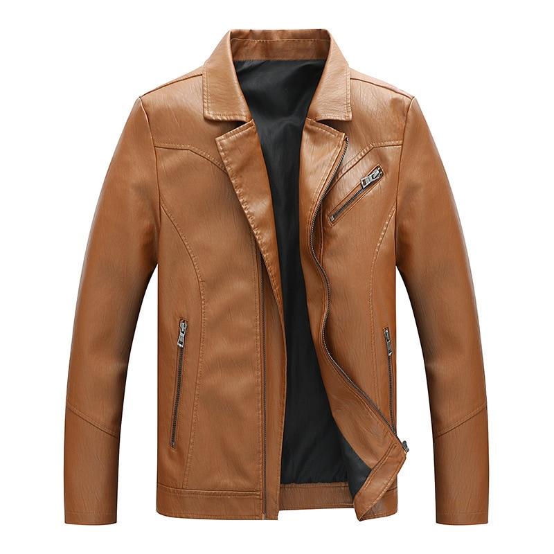 2019 Leather Jackets Autumn Winter Men\x27s Windbreaker Genuine Leather Leather Jackets Coats Jackets For Men 1909