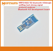 Быстрая Бесплатная доставка NRF51822/52 Bluetooth 4.0 Dongle нюхают инструмент сильный сигнал анализатор протокола Bluetooth 4.0 модуль демо-доска
