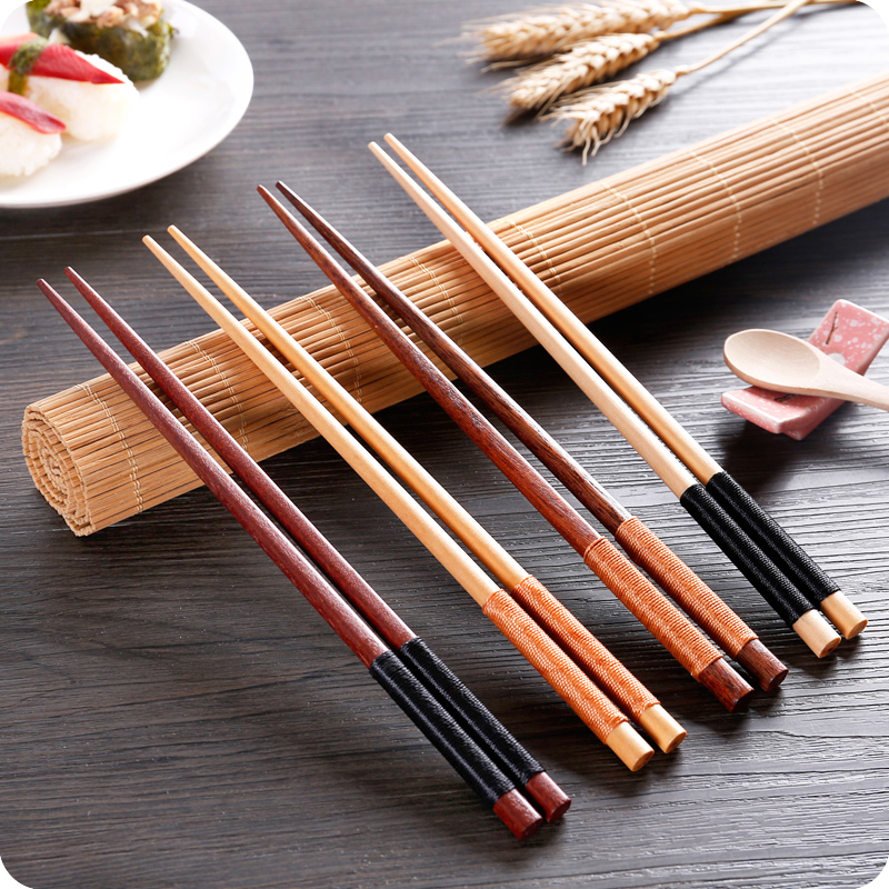 Aliexpress.com : Buy 2 pairs/set Wooden Chopstick Retro ...