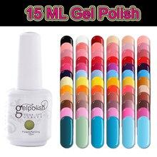 15ML UV Gel Nail Art Colorful Nail Polish Soak Off Gellak Classic Color Black Nail Gel Varnish Nails Led Lamp White Gel Polish