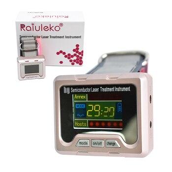 Reloj de terapia láser de nivel bajo de diodo de 650nm LLLT para la Diabetes rinitis, tratamiento de fisioterapia y de abdomen