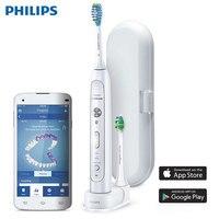 Philips Sonicare FlexCare Platinum Bluetooth подключен Sonic электрические зубные щётки с приложением Smart чистки датчики HX9192/01