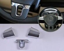 DWCX Car fashion Chrome Steering Wheel Trim Cover for Volkswagen VW Lavida 2011 2012 Tiguan 2011 2012 2013 2014 2015 Passat цена