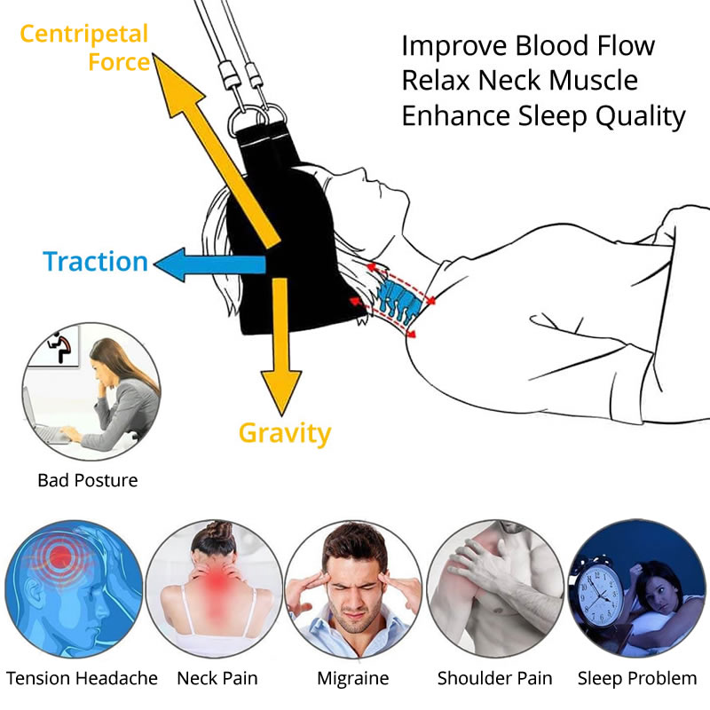 Lighten UP Hammock For Head Neck Body Massager