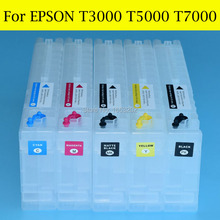 Rechargable ink cartridge for epson T6941T6942 T6943 T6944 T6945 T694 ink cartridge for epson T7000 T5000 printer цена 2017