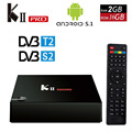KII Pro DVB-T2 + DVB-S2 Android 5.1 TV Box 2G/16G Amlogic S905 Quad-core 4 K * 2 K 2.4G & 5G Dual Wifi BT4.0 KIIpro Smart Media jugador
