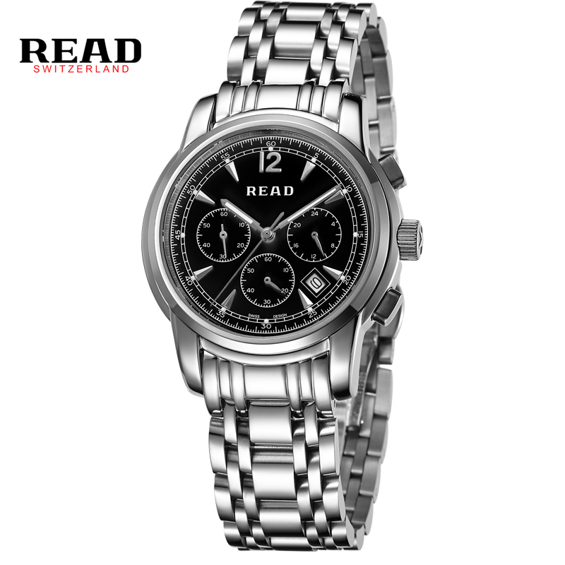 READ watches Mens Watch Mens Multi-function quartz watch 7001 флюс для пайки rexant скф 30ml 09 3640