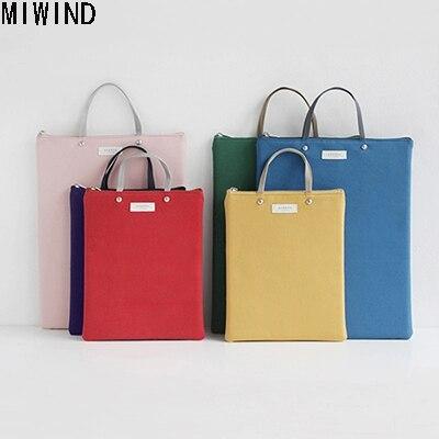 2017 New A4 Canvas Office Briefcases for Men Women Waterproof Messenger Bag File Storage Bag Handbag Briefcases IPAD Bag 1468