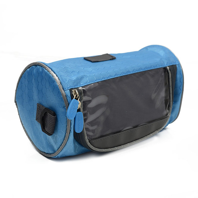 Mountain Bike Handlebar Bags Cycle Panniers Touch Screen Cycling Tube Cylinder Bag