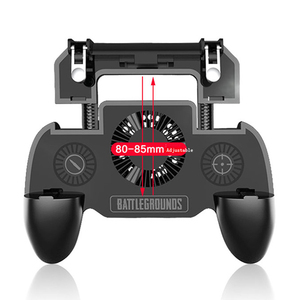 Image 5 - Mobile Phone Cooler Gamepad cellphone Cooling Gaming Fan Radiator Mute Fan 2000 mAh Power Bank Fan for 4 6.5 inch Smartphone