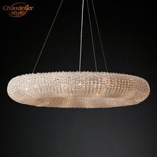 كريستال هالو الثريا أضواء الثريا الحديثة بريق دي كريستال مصباح نجف LED الثريا معلقة تركيب المصابيح