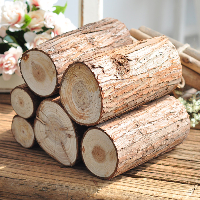 6 to 8cm Nature Pine Wood stub Chip Base Handmake Craft Mini Micro Landscaping Home Garden Decoration DIY Accessories Height 5cm ...