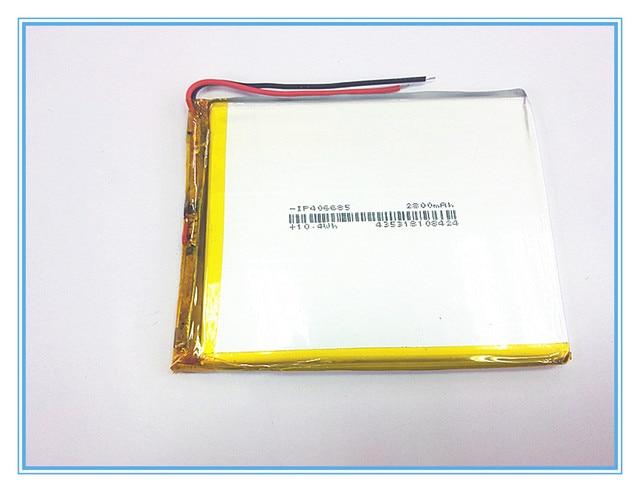 شحن مجاني جديد المادة 3.7 V ليثيوم بوليمر بطارية 2800 mah 406685 أماه بطارية الجهاز اللوحي