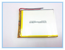 Free shipping A new article 3.7 V lithium polymer battery 2800 mah 406685 ma tablet battery
