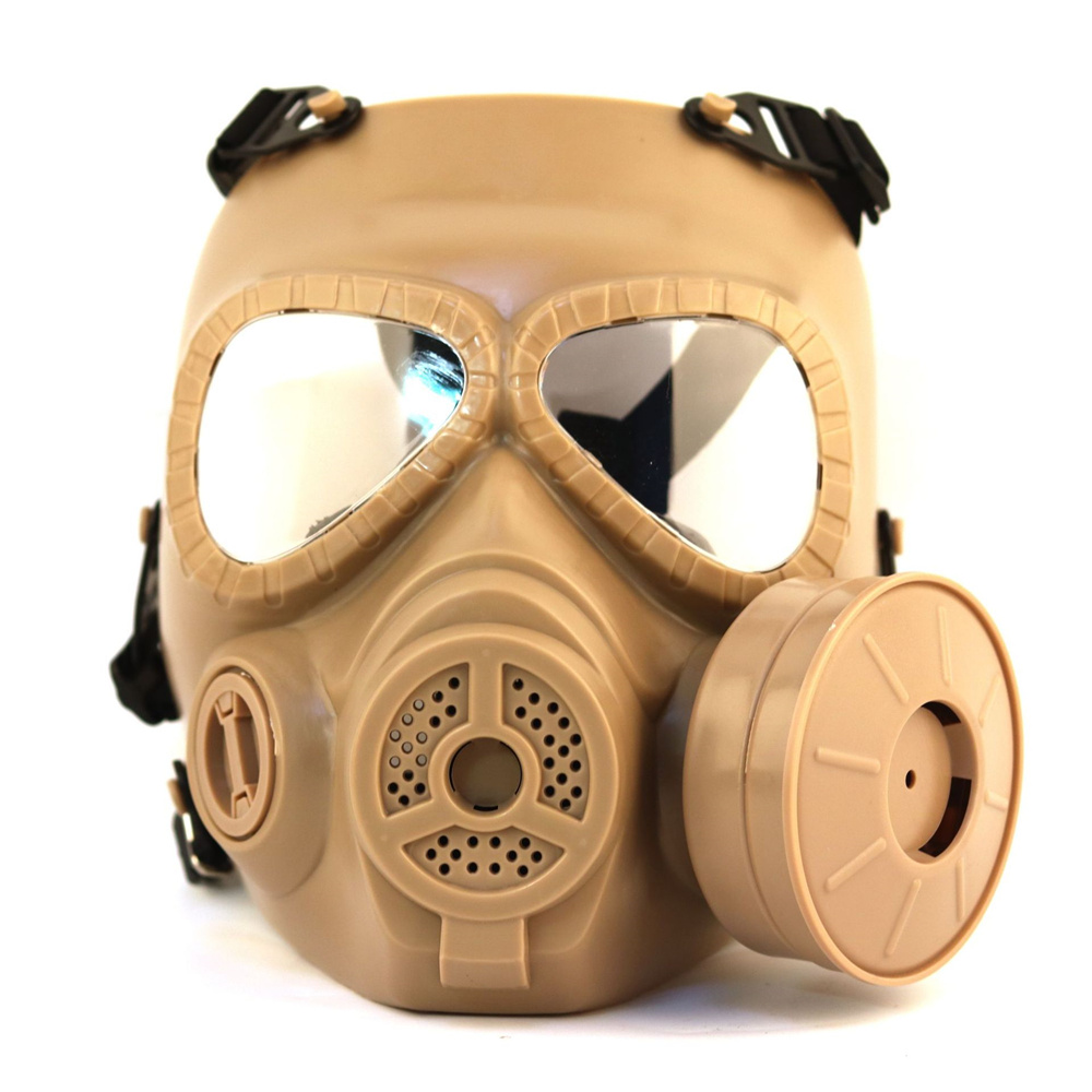 Tactical Military Protective Gas Mask Airsoft Paintball War Game Paintball Protector Safety Mask Fan Mask купить в Москве 2019