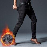 TANLIYINFU Marka wysokiej jakości nowe czarne skinny jeans Utrzymać Ciepło Grubsze zimowe męskie spodnie Elastyczność Pluszowe spodnie męskie 998 rong