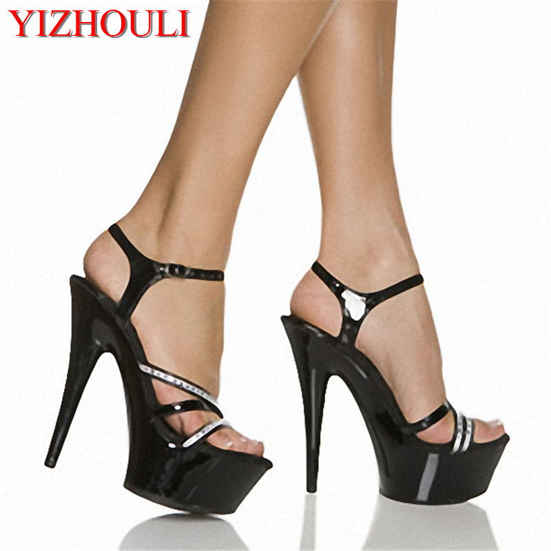 15cm Super high with sexy love crystal shoes with stage of ultrafine sandal preferential price womens shoes15cm Super high with sexy love crystal shoes with stage of ultrafine sandal preferential price womens shoes