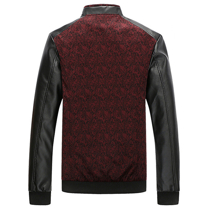 Mountainskin PU Leather PatchworkJacket 4