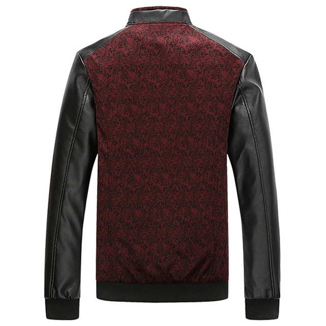 Leather Patchwork Men's Jackets 4