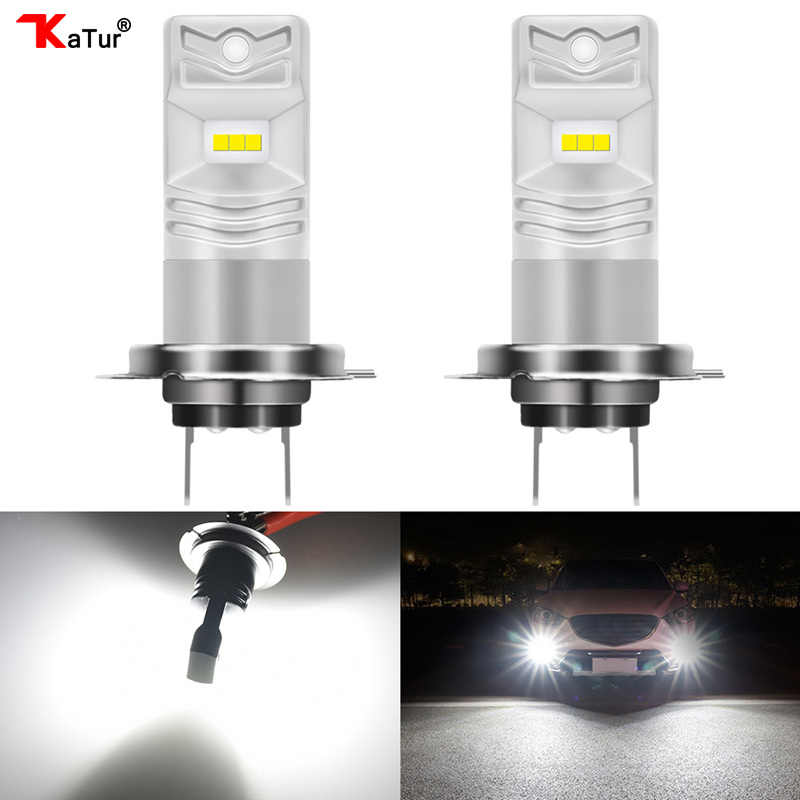 Katur 2pcs 1600Lm LED Car Fog Lights Lamps Bulbs H1 H3 H4 H7 H8 H9 H10 H11 H16 5202 9005 9006 HB3 HB4 Running Driving Foggy Lamp