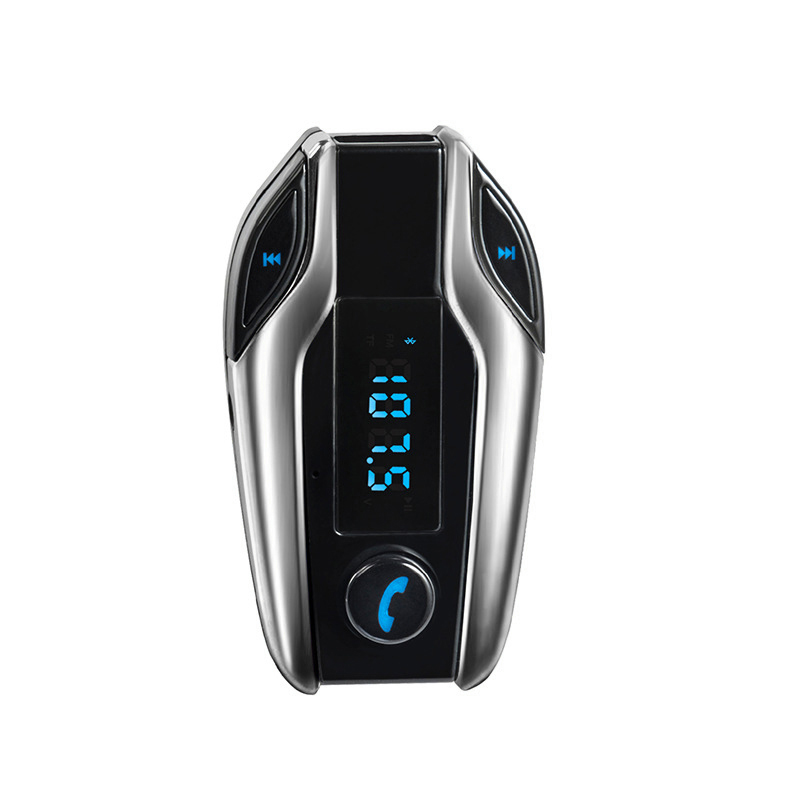 Bluetooth Car Kit Free Wireless Adapter FMP3 Music Player m Transmitter FM Wireless Hands Free Modem LCD Monitor USB Charger