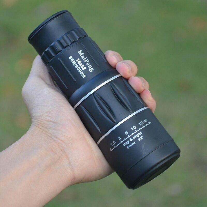 Monoculaire Télescope Dual Focus Vert Film Binoculo Optique Chasse Tourisme Champ D'action Faible Niveau de Lumière Nuit Vision Jumelles