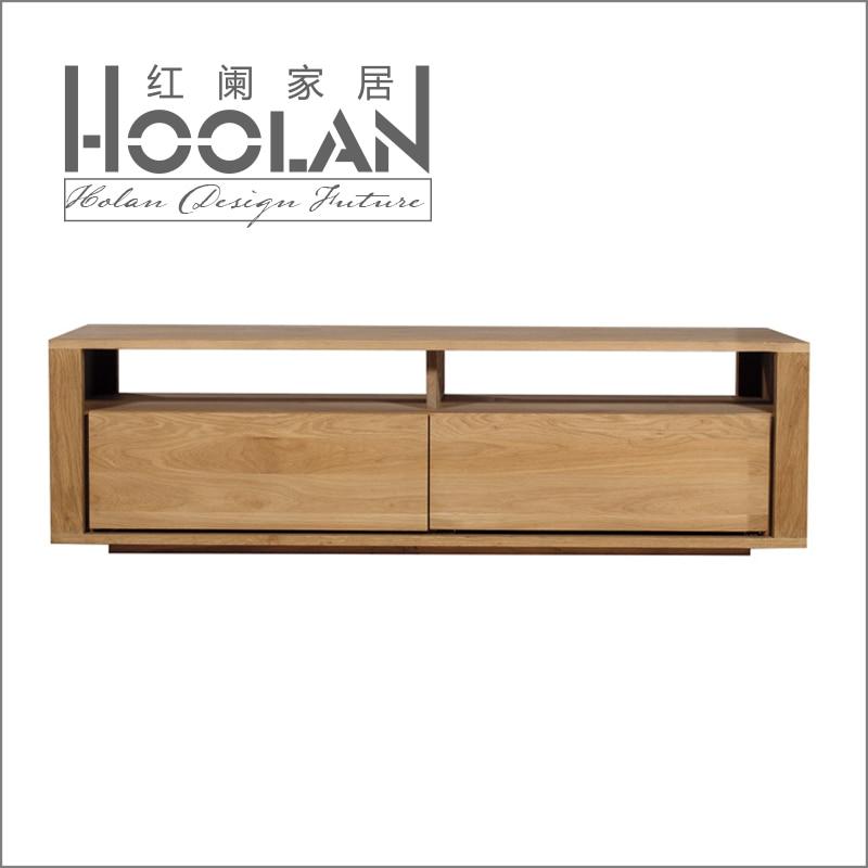 minimalistische moderne scandinavische ikea tv kast eiken hout as