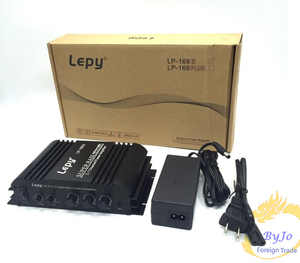 Image 3 - lepy LP 168S Mini HiFi 12V 40W x2+ 68W RMS output power amplifier 2.1CH Car Auto Home Audio Stereo Bass Speaker + Power Adapter