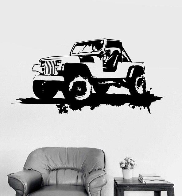 Autocollants muraux en vinyle, décoration de Garage de voiture militaire, autocollants artistiques de la gronde, cadeau Unique, 2FJ42
