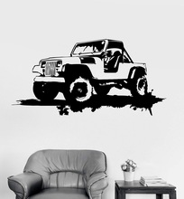 Vinyl Wall Decal Military Car Garage Decor Grunge Art Stickers Unique Gift 2FJ42