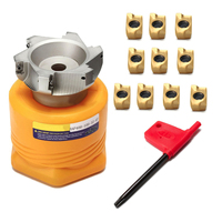 Mayitr 1pc BAP 400R 100 32 6F Face Milling Cutter 10pcs Carbide Insert With Wrench For