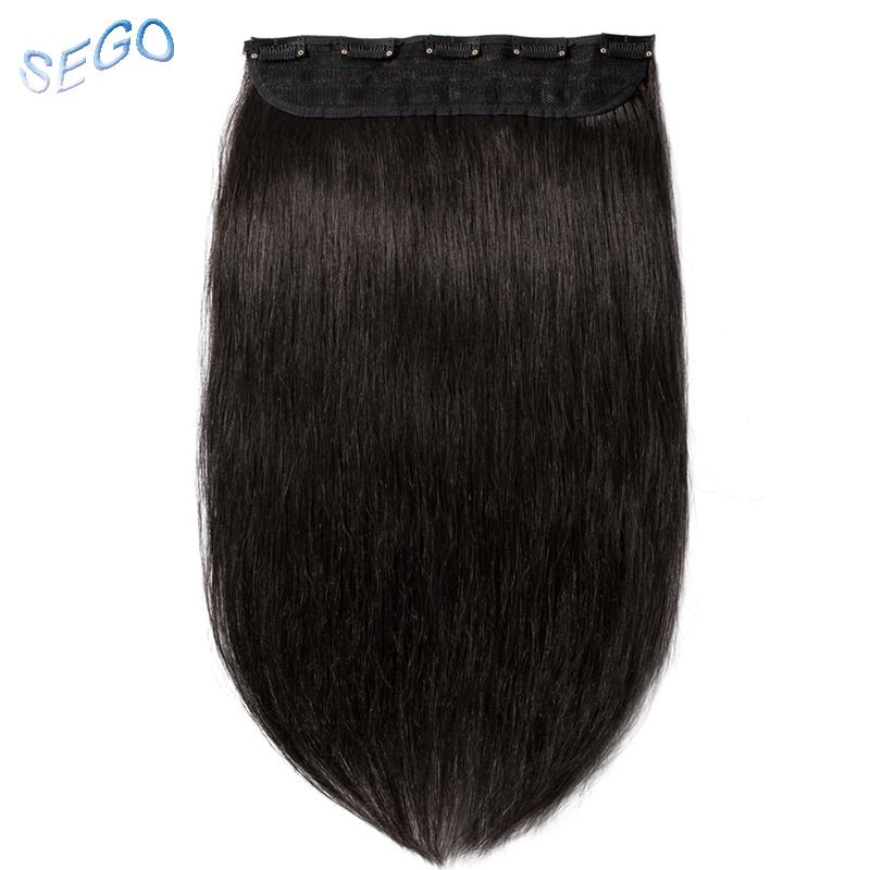 SEGO 16 22 80G 100G Straight Clip in Human Hair Extensions 3/4 Full Head Non Remy Human Hair Clips Pure and Piano Color 1p/set