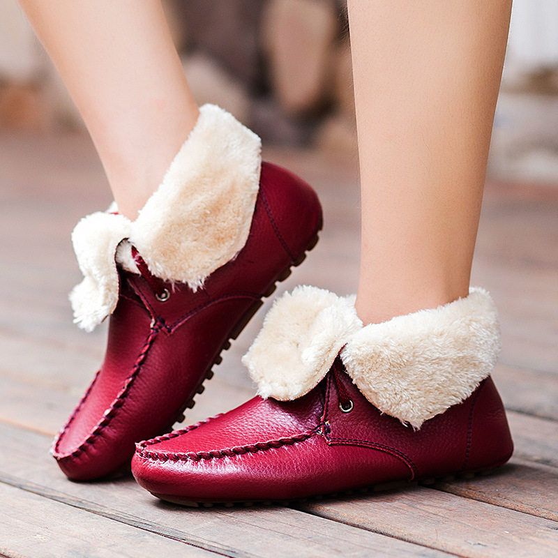 women Boots fashion Women shoes Genuine Leather Moccasins woman flats slip on breathable shoes women Oxford pl us size 38 47 handmade genuine leather mens shoes casual men loafers fashion breathable driving shoes slip on moccasins