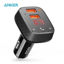 אנקר Roav SmartCharge F2 FM משדר Bluetooth מקלט מטען לרכב עם Bluetooth 4.2 App תמיכה USB כונן לשחק MP3