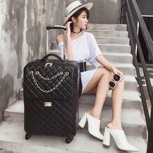 Universele Wiel Reistas Koffer Carry Op Trolley Tas Vrouwen Cabine Bagage Tas Meisje Mode Koffer 20 24 Inch Kofferbak