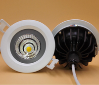Free Shipping Super 15W Dimmable Warm White Pure White Cold White Recessed COB Led Ceiling Down