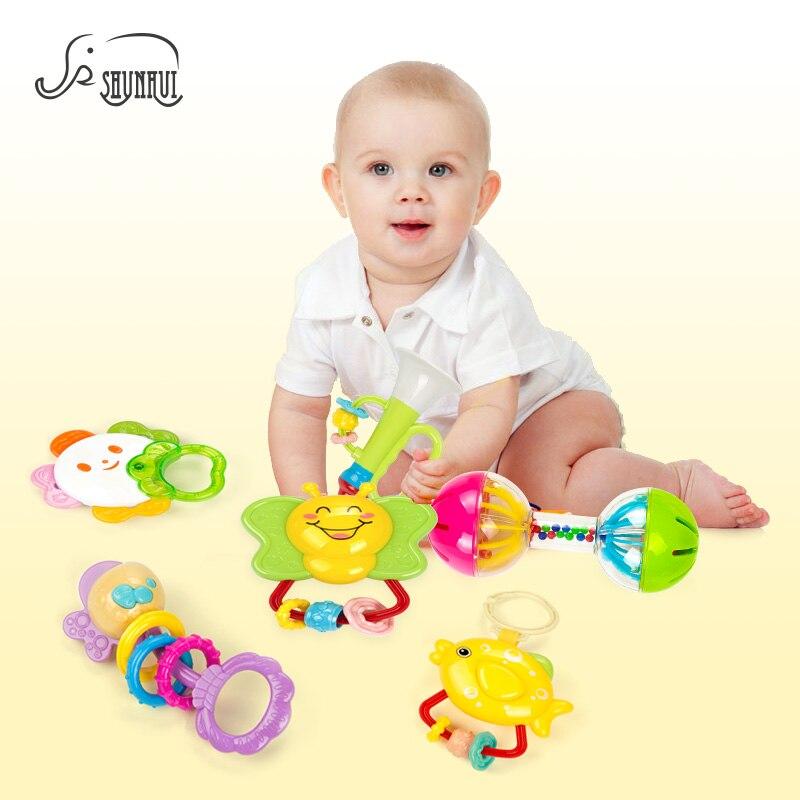 6 stks Pasgeboren Babyrammelaars Set Plastic Speelgoed 0-12 Maanden - Speelgoed voor kinderen