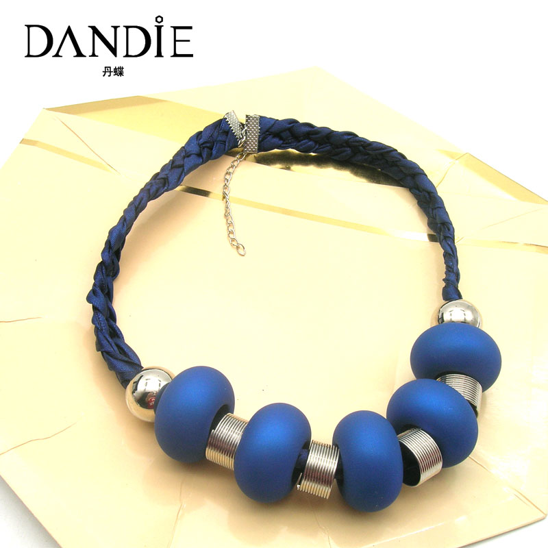 Dandie Blue Rubber Short Necklace , Fashion Jewelry, Costume Accessory For Women