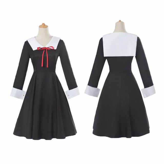 Kaguya-Sama: cinta Adalah Perang Cosplay Kostum Kaguya Shinomiya Gaun Cosplay Chika Kostum Gadis Sekolah Seragam Wanita.